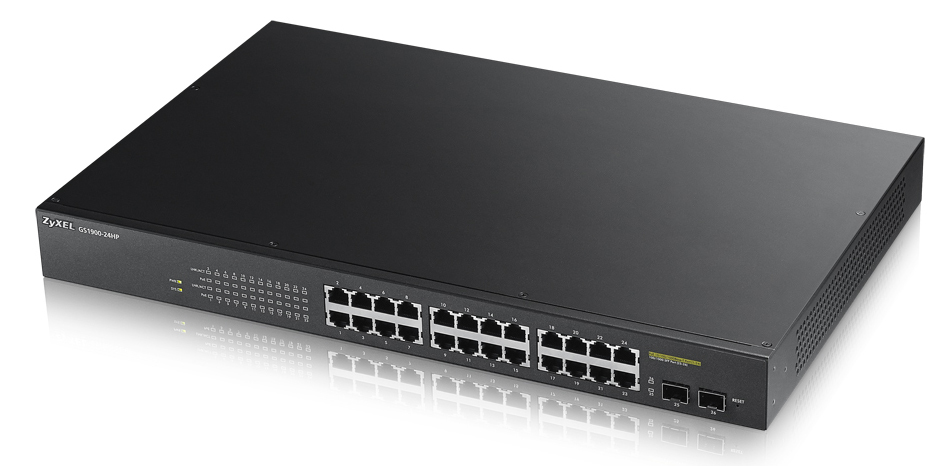 Zyxel GS1900-24HP network switch Managed Gigabit Ethernet (10/100/1000) Black Power over Ethernet (PoE)