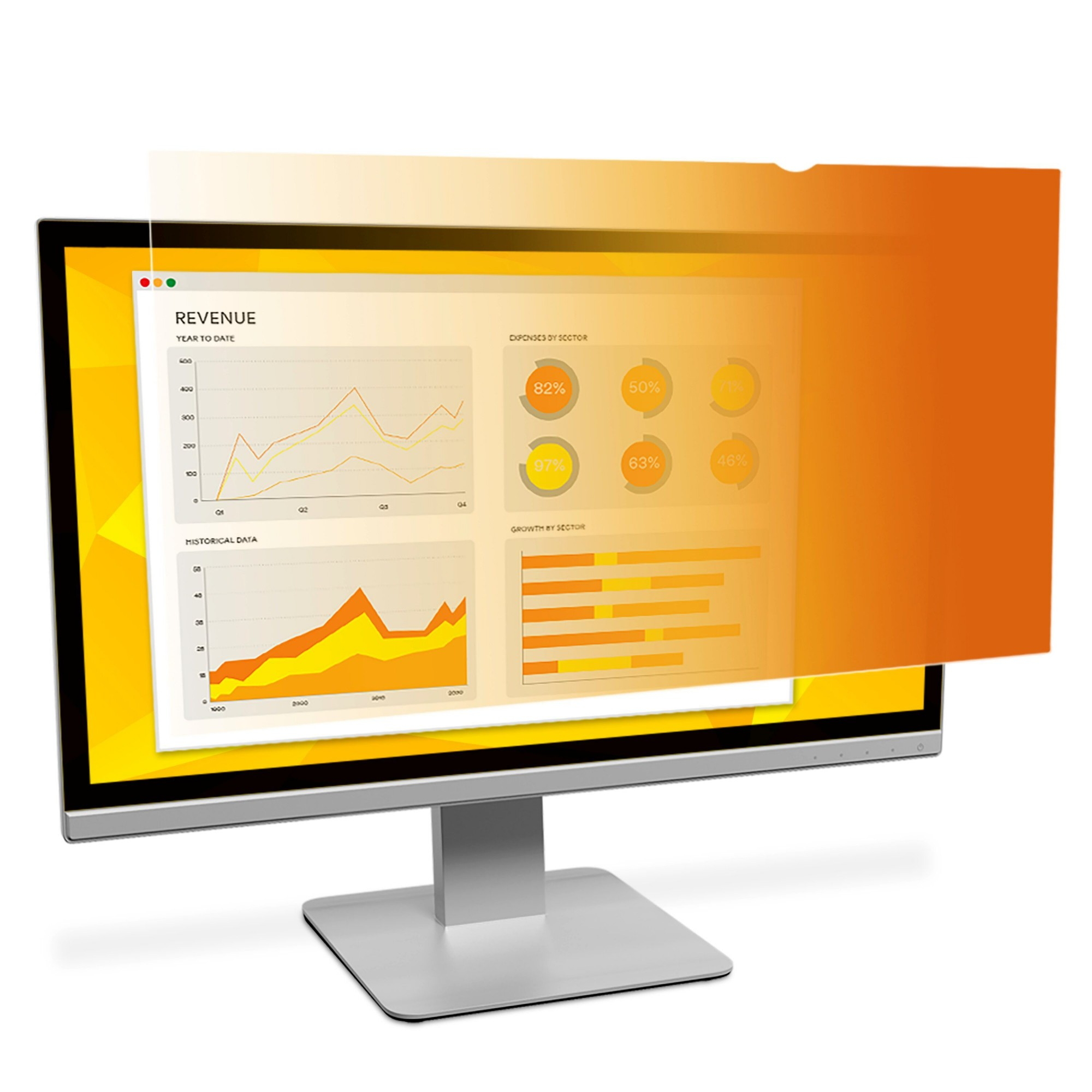 3M Gold Privacy Filter for 23.6″ Widescreen Monitor